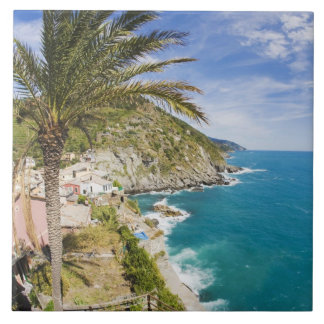 Italy, Cinque Terre, Vernazza, Hillside Town of Tile