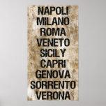 Italy Cities Print