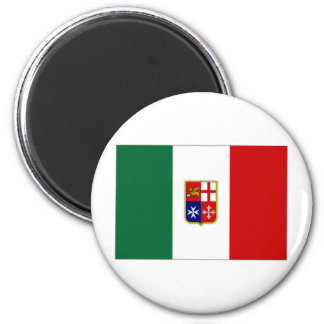Italy Civil Ensign 2 Inch Round Magnet