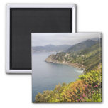 Italy. Coastal hiking area between the villages 2 Inch Square Magnet