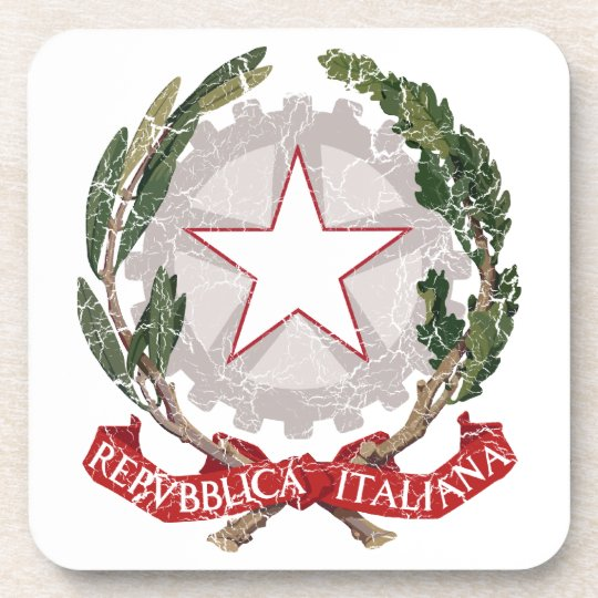 Italy Coat Of Arms Beverage Coaster
