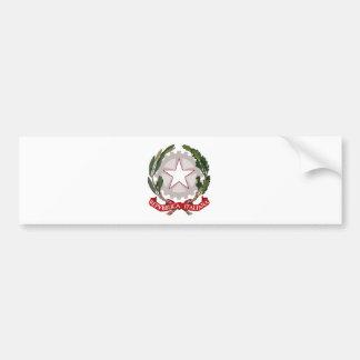 Italy coat of arms car bumper sticker