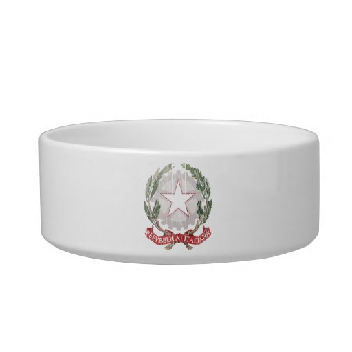 Italy Coat Of Arms Cat Water Bowl