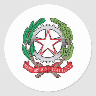 Italy Coat Of Arms Classic Round Sticker