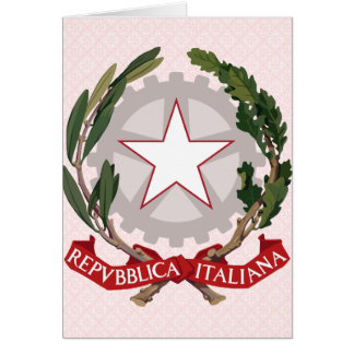 Italy Coat of Arms detail Greeting Card