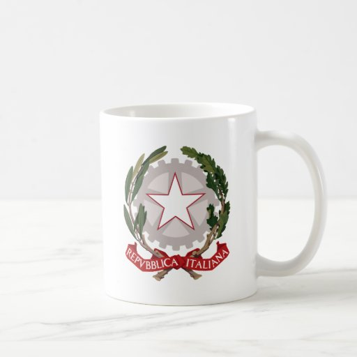 Italy Coat of Arms detail Classic White Coffee Mug