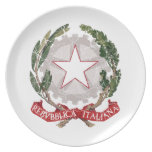 Italy Coat Of Arms Party Plate