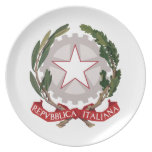 Italy Coat Of Arms Plate