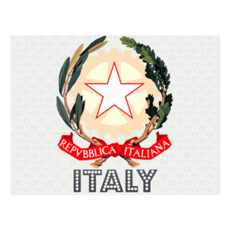 Italy Coat of Arms Postcard