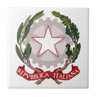 Italy Coat Of Arms Tile