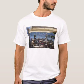 Italy, Como Province, Bellagio. Lakeside cafe. T-Shirt
