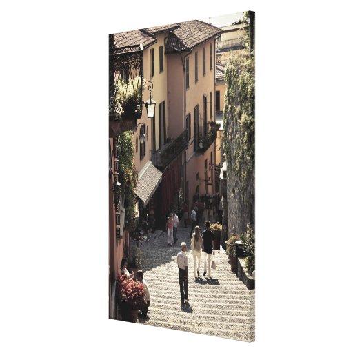 Italy, Como Province, Bellagio. Salita 2 Canvas Print
