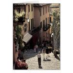 Italy, Como Province, Bellagio. Salita 2 Card