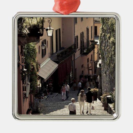 Italy, Como Province, Bellagio. Salita 2 Christmas Tree Ornaments