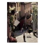 Italy, Como Province, Bellagio. Salita 2 Postcard