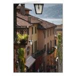 Italy, Como Province, Bellagio. Salita Greeting Card