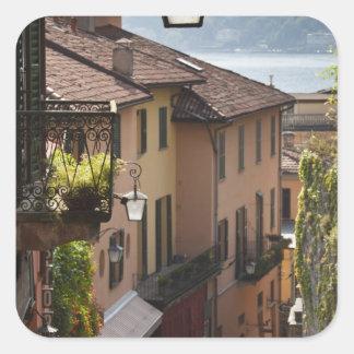 Italy, Como Province, Bellagio. Salita Square Sticker
