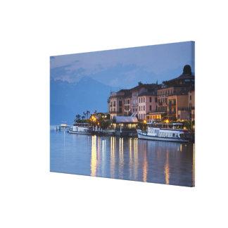 Italy, Como Province, Bellagio. Town view, Canvas Print