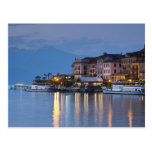 Italy, Como Province, Bellagio. Town view, Postcard