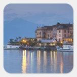 Italy, Como Province, Bellagio. Town view, Sticker