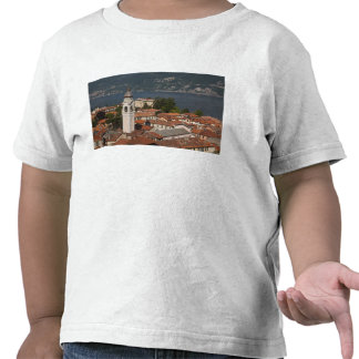 Italy, Como Province, Menaggio. Town view and 2 Shirts