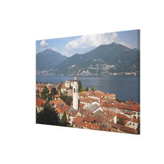 Italy, Como Province, Menaggio. Town view and Canvas Print