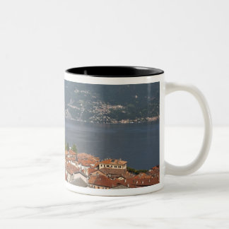 Italy, Como Province, Menaggio. Town view and Two-Tone Coffee Mug