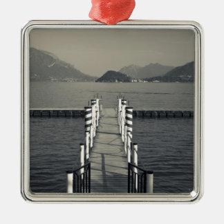Italy Como Province Tremezzo Lake pier Christmas Tree Ornaments