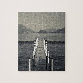 Italy, Como Province, Tremezzo. Lake pier. Puzzle