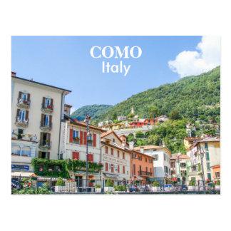 Italy - Como Town Houses Postcard