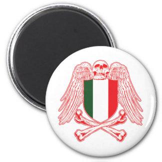 Italy Crossbones 2 Inch Round Magnet