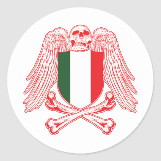 Italy Crossbones Classic Round Sticker