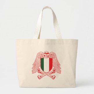 Italy Crossbones Large Tote Bag