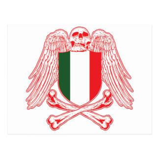 Italy Crossbones Postcard