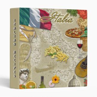Italy (customizable) 3 ring binder