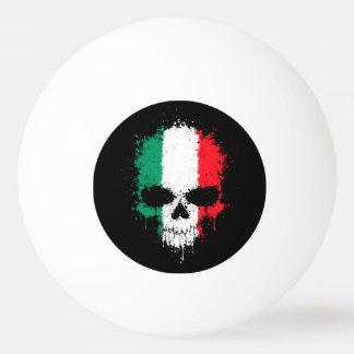 Italy Dripping Splatter Skull Ping-Pong Ball