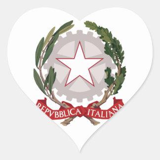 italy emblem heart sticker