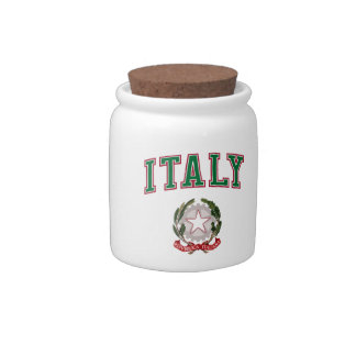 Italy + Emblem of Italy Candy Jar