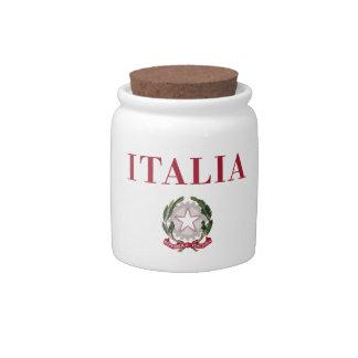 Italy + Emblem of Italy Candy Jars