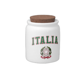 Italy + Emblem of Italy Candy Dishes