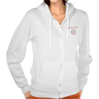 Italy + Emblem of Italy Hooded Sweatshirts