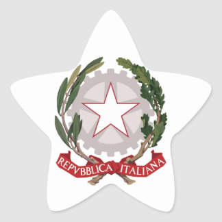 italy emblem star stickers