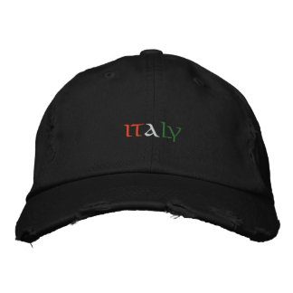 Italy Embroidered Baseball Cap