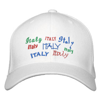 italy embroidered baseball hat