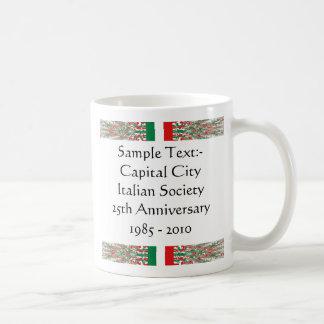 Italy eText ~ Flagcolor Map Mug