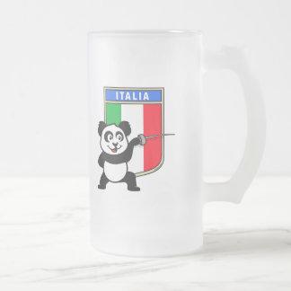 Italy Fencing Panda Coffee Mugs
