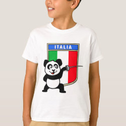 Kids' Hanes TAGLESS® T-Shirt with Italian Fencing Panda design