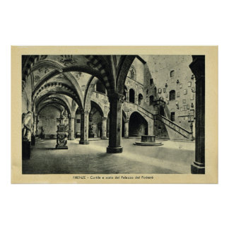 Italy, Firenze, Palazzo Podesia Poster
