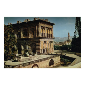 Italy, Firenze, Pitti Palace, Duomo Poster