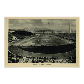 Italy, Firenze, Stadio Communale Poster